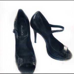 Aldo Croc Mary Jane heels